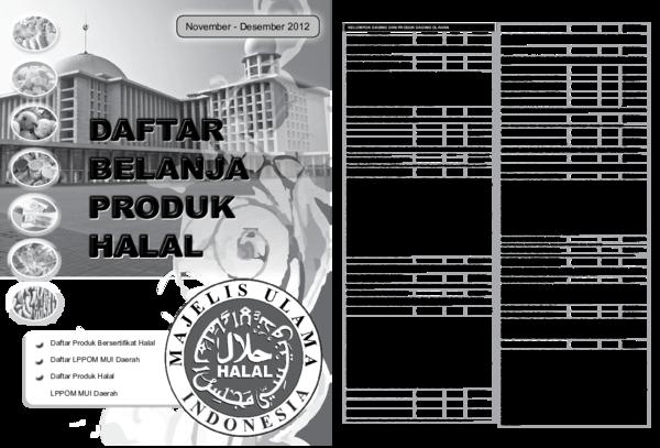PDF) Daftar Produk Bersertifikat Halal | irfan hilmi