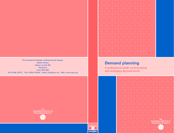 PDF) Demand planning A professional guide on forecasting and