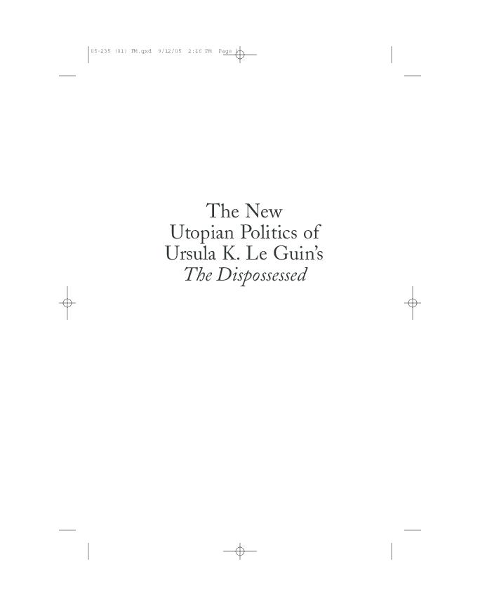 the philosophy of utopia goodwin barbara