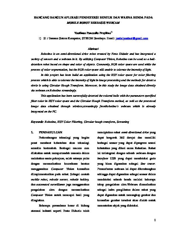 (PDF) RANCANG BANGUN APLIKASI PENDETEKSI BENTUK DAN WARNA