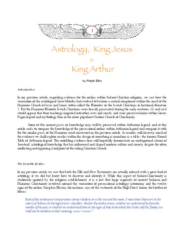 PDF) Biblical astrology in Arthurian legend  (Astrology
