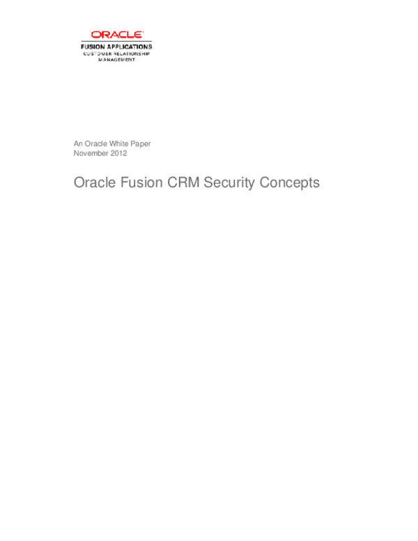 PDF) Oracle Fusion Security Concepts | Sachin Shirke