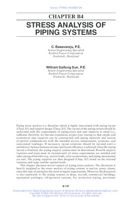 PDF) Stress analysis of piping system | Ali Chouikha