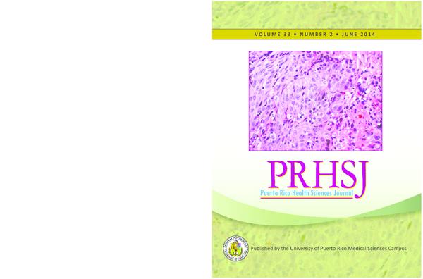 PRHSJ V33 N2 June 2014 | Puerto Rico Health Sciences Journal
