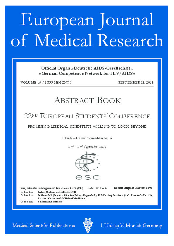 PDF) 22ND EUROPEAN STUDENTS´CONFERENCE ABSTRACT BOOK, Berlin