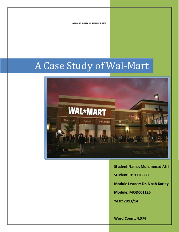PDF) History and the complete Market and Competitor Analysis of Wal