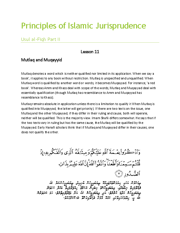 Principles Of Islamic Jurisprudence Pdf