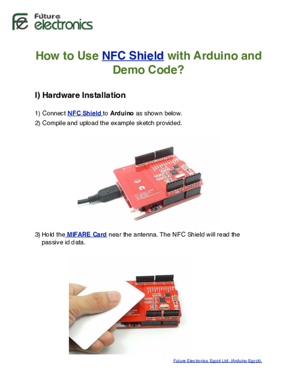 PDF) How to use NFC Shield with Arduino and demo code 2