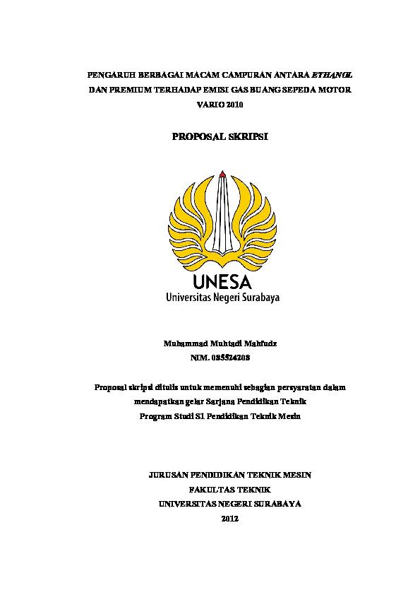 Skripsi Unesa Surabaya Ide Judul Skripsi Universitas