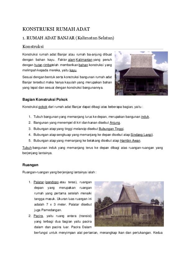 Doc Rumah Adat Di Indonesia Kumpulan Materi Academia Edu