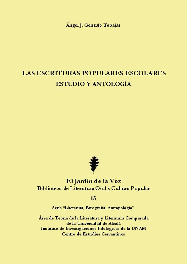 PDF) Las escrituras populares escolares  estudio y antología (by ... 2ad3fd77b5c80