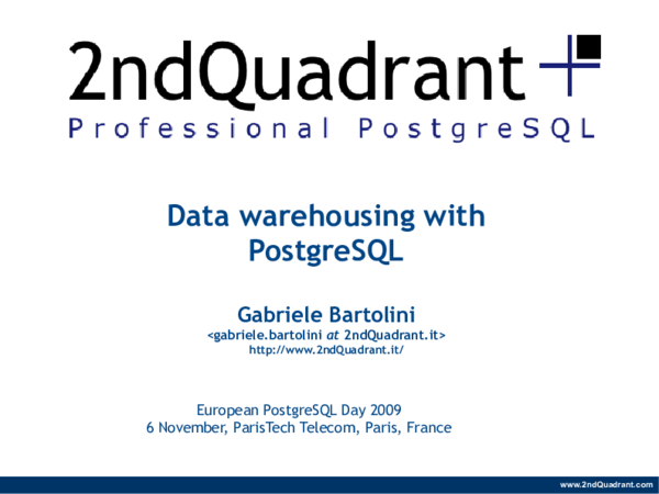 PDF) Data warehousing with PostgreSQL   Brayan Miranda