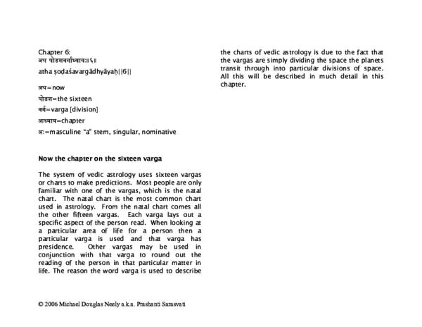 PDF) Brihat Parashara Hora Shastra: Sixteen Vargas | Michael