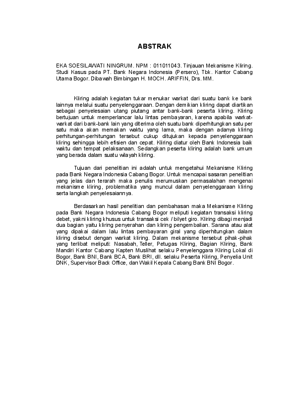 Contoh Makalah Abstrak Pdf
