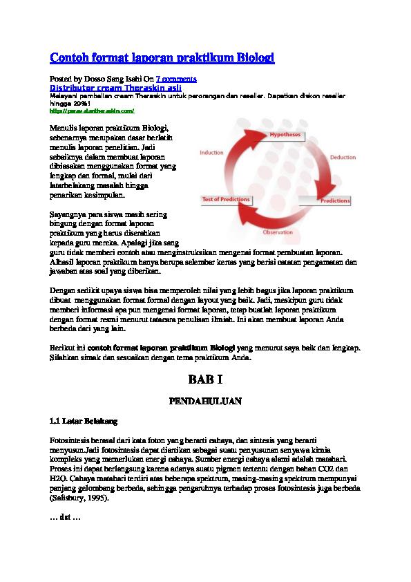 Doc Contoh Format Laporan Praktikum Biologi Posted By Dosso Sang Isahi Fadhilatul Hafidzh Syah Hafidh Academia Edu