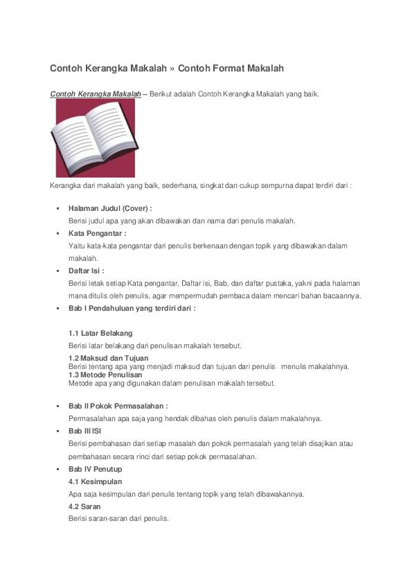 Doc Contoh Kerangka Makalah Contoh Format Makalah Contoh Kerangka Makalah Berikut Adalah Contoh Kerangka Makalah Yang Baik Margaretha Rosari Academia Edu