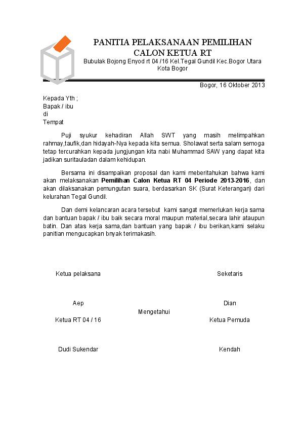 Doc Panitia Pelaksanaan Pemilihan Calon Ketua Rt Gunawan
