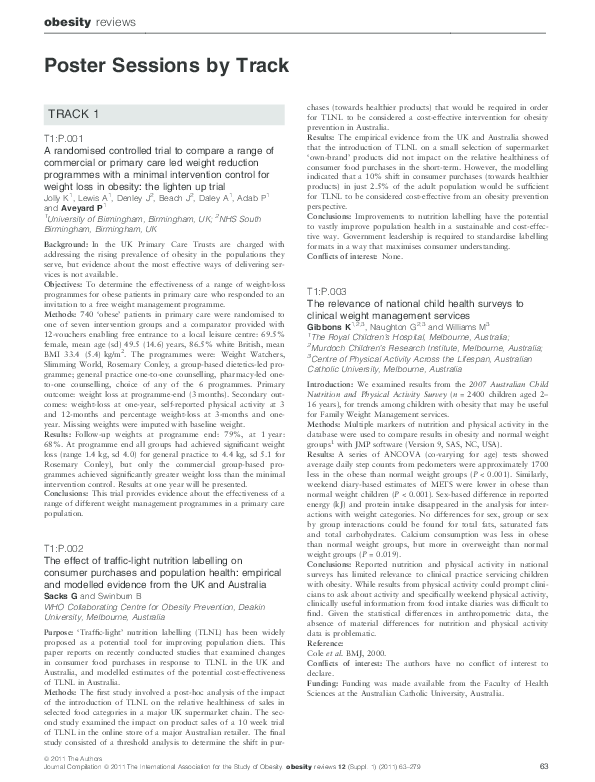 PDF) Nikolaou CK, Lean MEJ, Hankey CR (2011) Weight and