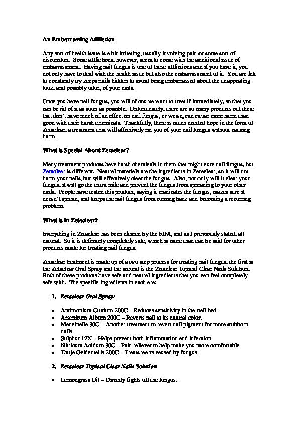 Zetaclear Review Facu Oreste Academia Edu