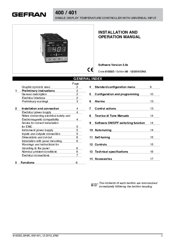 Gefran 400 Manual Pdf