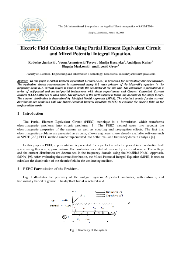PDF) Electric Field Calculation Using Partial Element