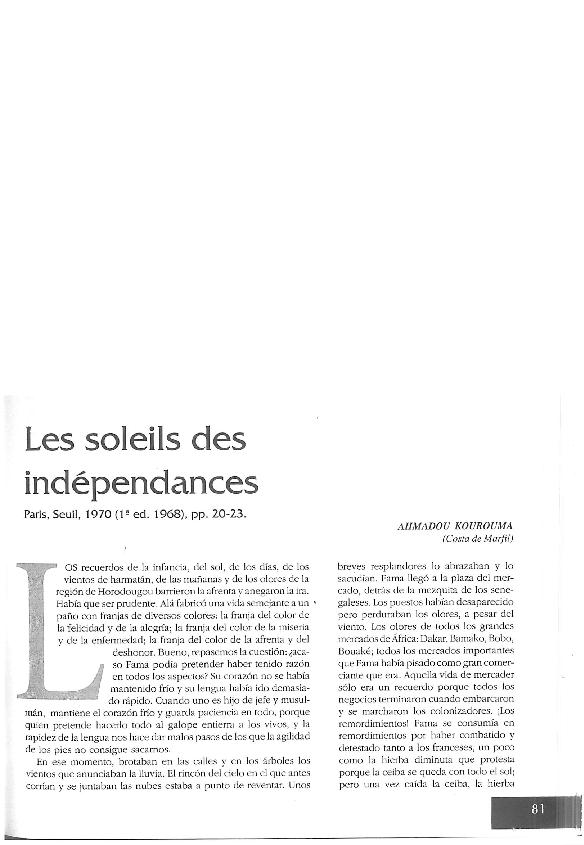 INDEPENDANCES TÉLÉCHARGER PDF DES SOLEIL