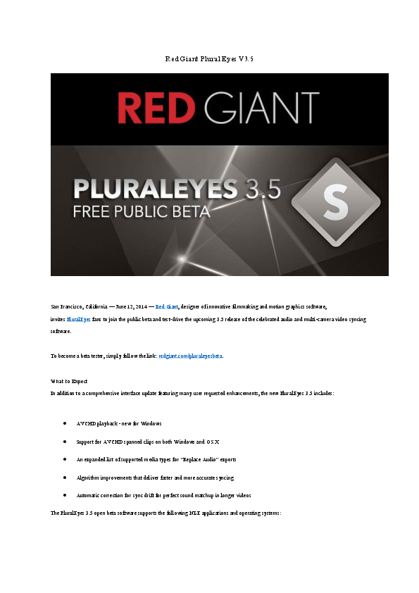 PDF) Red Giant Plural Eyes V3 5 | sivakorn