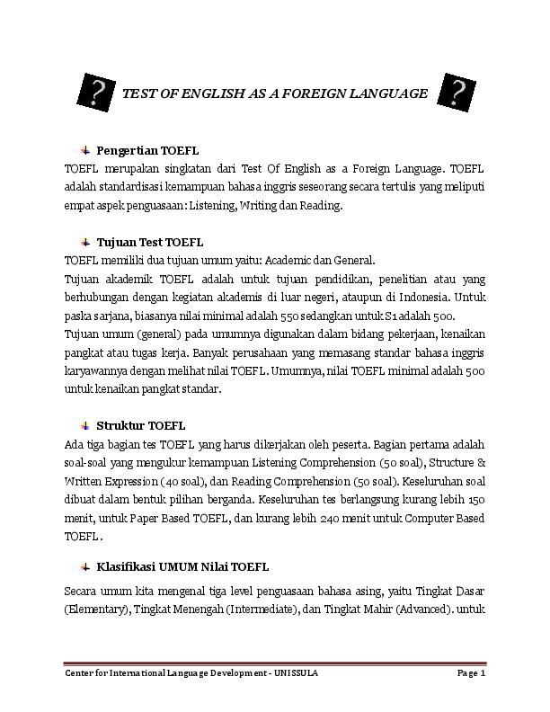 Toefl materi pdf tes