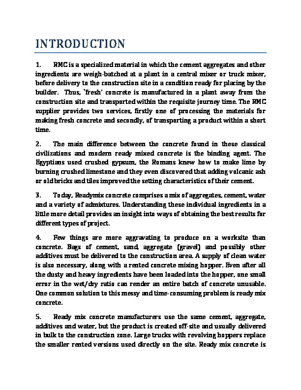 PDF) Ready mix concrete | Jayedul Islam Jahid - Academia edu