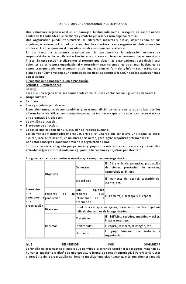 Doc Estructura Organizacional Y El Empresario Jorge Lopez