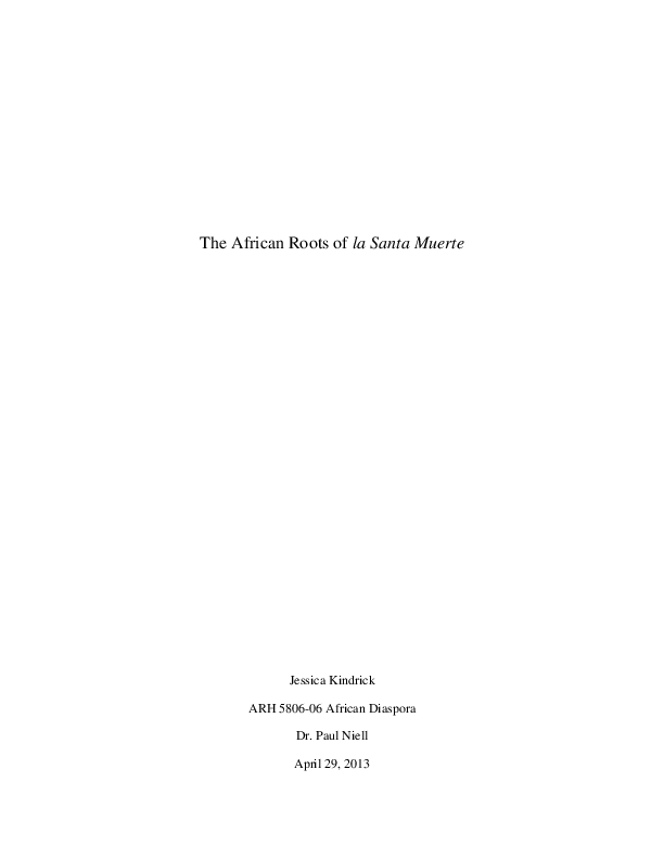 PDF) The African Roots of la Santa Muerte | Jessica L