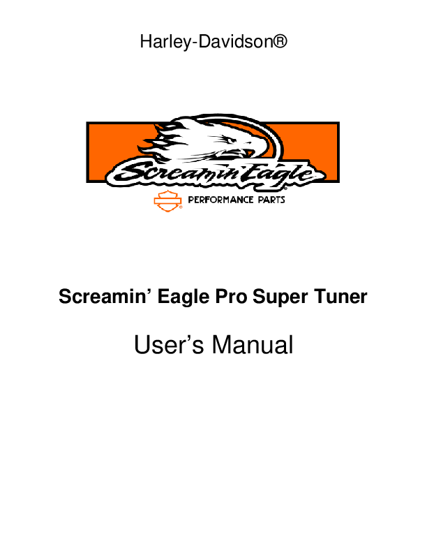 PDF) Screamin Eagle Pro Super Tuner Manual | Thawatchai