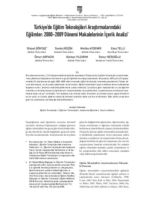 Educational Technology Research Trends Ilknur Reisoğlu Academiaedu