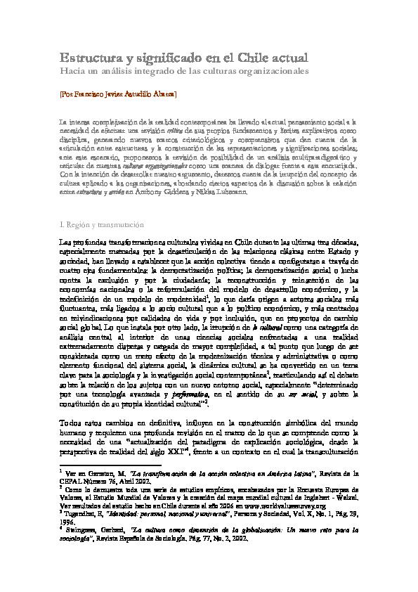 Pdf Estructura Y Significado Hacia Un Análisis Sistémico