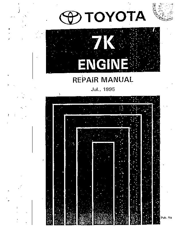 Pdf Toyota Engine 7k Repair Manual Bursa Khusus Academia Edu