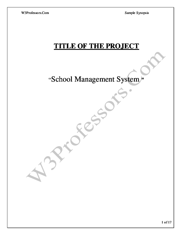 PDF) TITLE OF THE PROJECT