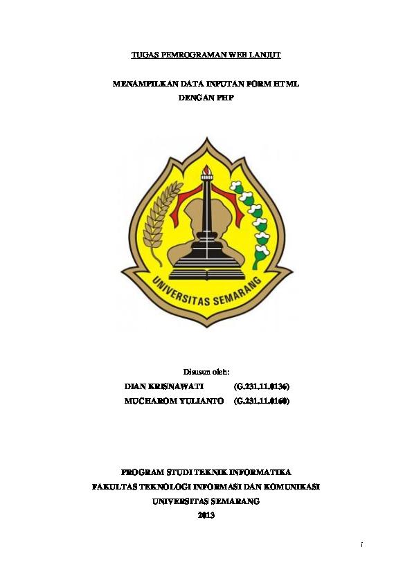 Doc Contoh Cover Makalah Dian Krisnaw Academia Edu