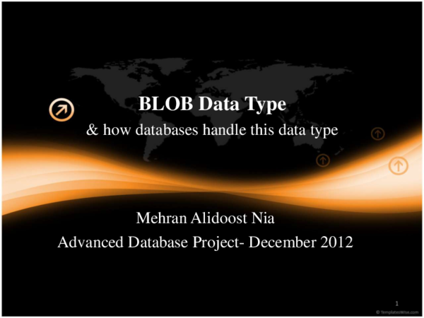 PDF) BLOB Data Type and how databases handle this data type | Mehran