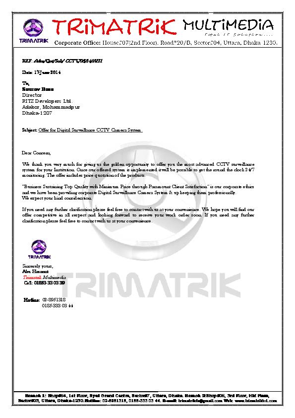 Pdf Quotation For Cctv Camera Sl Product Description Tri Matrik Mul Timedia Academia Edu