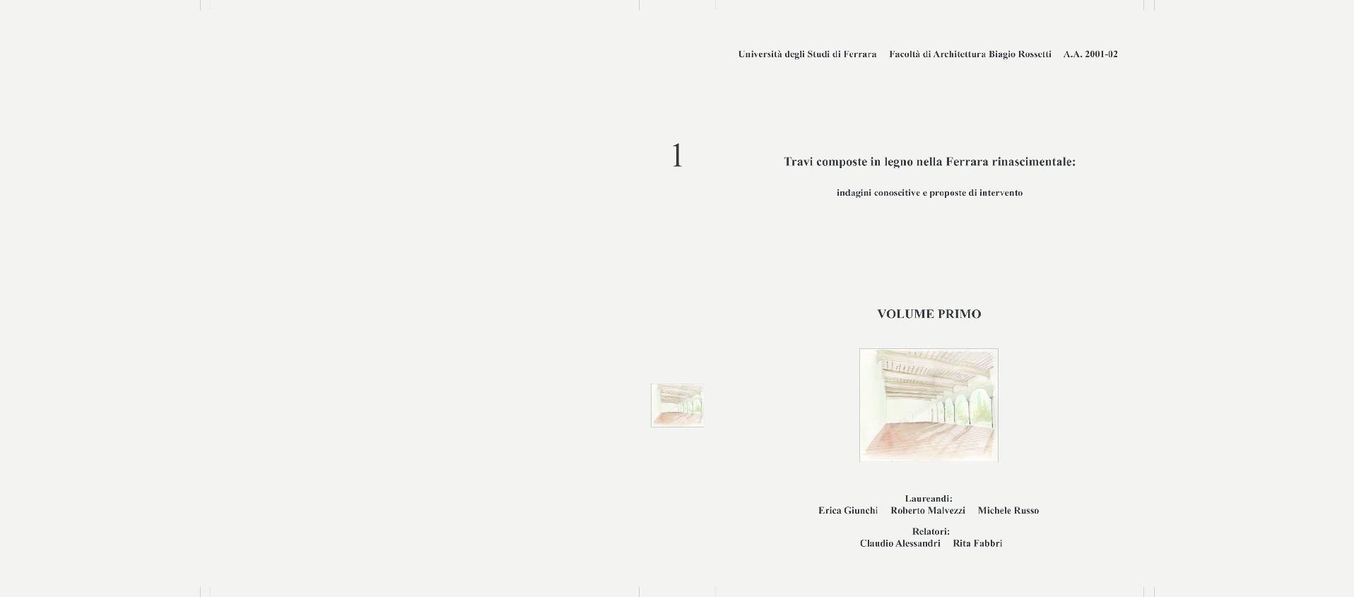 Dimensionamento Pergolato In Legno russo, m., 2002. travi composte nella ferrara rinascimentale