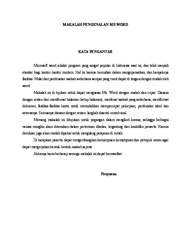 Pdf Makalah Pengenalan Ms Word Ainur Rosyiqoh Academia Edu