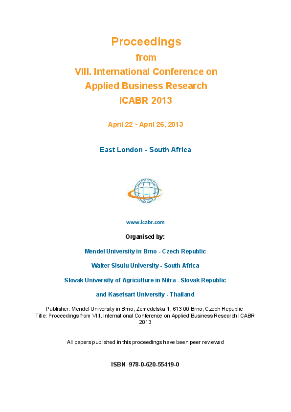 PDF) Icabr2013 Conference Proceedings   fola yusuf
