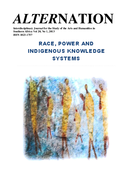 Race Power And Indigenous Knowledge System South Africa Ashok
