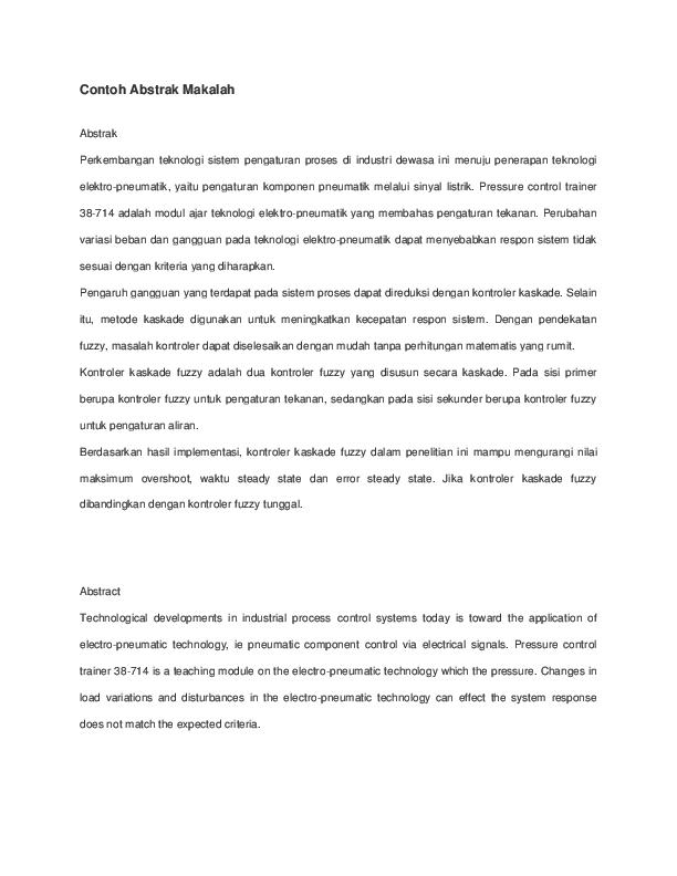 Doc Contoh Abstrak Makalah Nurul Aulia Academia Edu