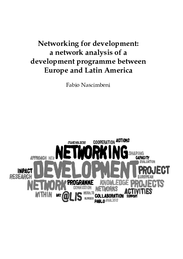 PDF) Networking for development: a network analysis of a development