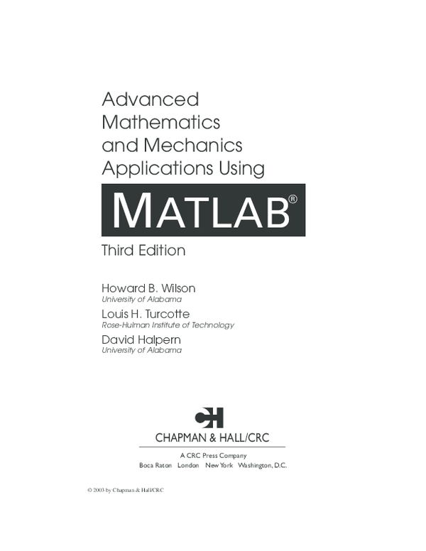 PDF) Advanced Math with MATLAB   Juan de Jesus Murcia yaya