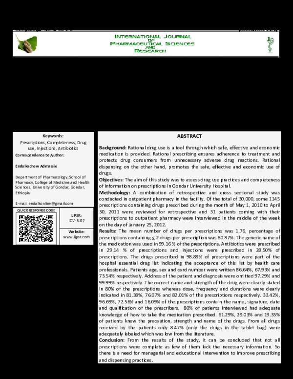 PDF) 29 Vol  4, Issue 1, January 2013, IJPSR, RA 2007, Paper 29