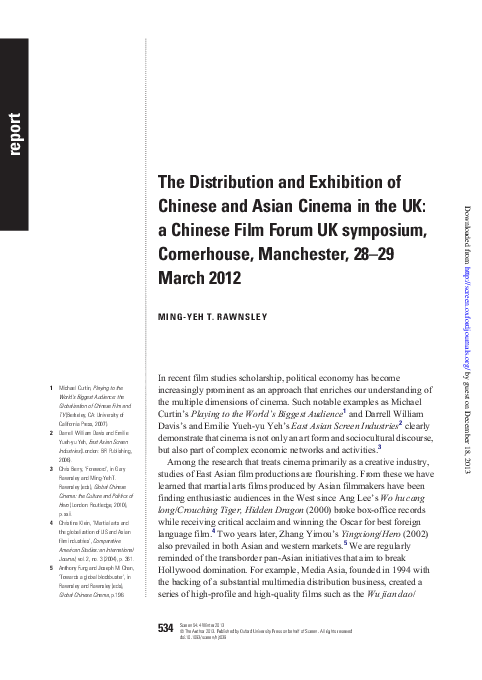 PDF) The Distribution and Exhibition of Chinese and Asian