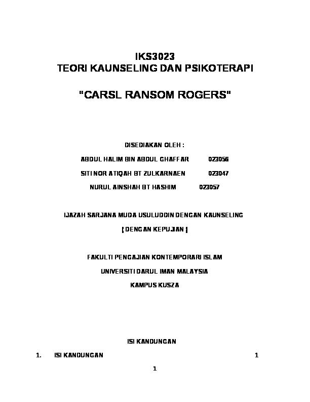 Doc Ijazah Sarjana Muda Usuluddin Dengan Kaunseling Dengan Kepujian Fakulti Pengajian Kontemporari Islam Universiti Darul Iman Malaysia Anirah Nira Academia Edu