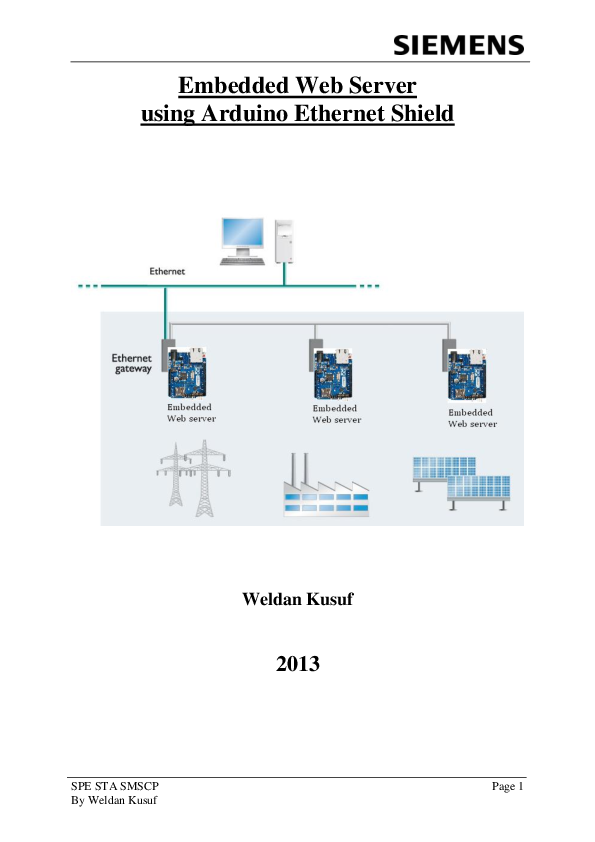 PDF) Embedded Web Server using Arduino Ethernet Shield